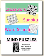 Combination Puzzle Book (Crossword, Word Search and Sudoku)