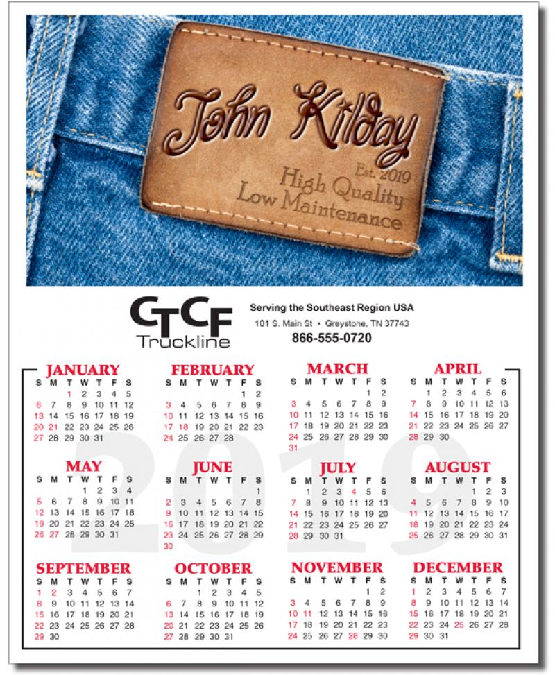In the Image Personalized Name Yearly Calendar