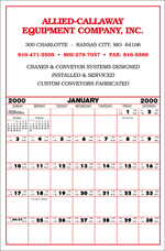 "Contractor's Calendar - Large 19""x29"""