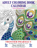 Adult Coloring Book Calendar Cover